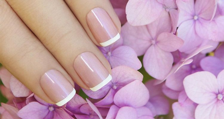 manicura francesa uñas cortas